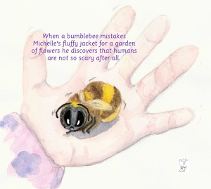 Back cover of Michelle and the Bumblebee